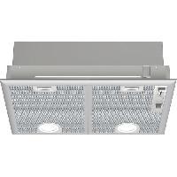 Hotte BOSCH DHL555BL Groupe filtrant 650 m3/H - 50 cm - Classe C  79.8 kWh/an - Evacuation ou recyclage avec filtre a charbon DH - Métal
