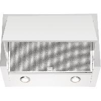 Hotte ELECTROLUX LFE116W-Hotte escamotable-Evacuation / Recyclage-730 m3 air max / h en intensif-71 dB max-3 vitesses+1-L 60 cm-Inox