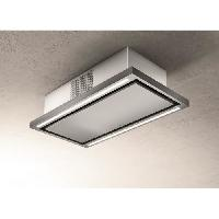 Hotte ELICA PRF0141953 - Hotte de plafond Cloud seven IX / F / 90 - Recyclage - 760 m³ air / h max - 3 vitesses - L 90 cm - Inox
