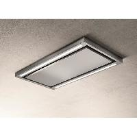 Hotte ELICA PRF0142094 - Hotte de plafond Cloud seven IX - A - 90 - Extraction ou filtr - 760 m3 air - h max - 3 vitesses - L 90 cm - Inox