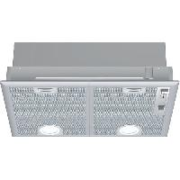 Hotte NEFF D5655X1 - Groupe filtrant - Evacuation ou recyclage - 2 moteurs - 56 dB max - 618 m3 air - h - Inox