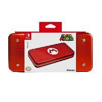 Housse - Etui - Coque - Facade - Sacoche De Transport Etui Aluminium Mario pour Switch - Hori