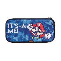 Housse - Etui - Coque - Facade - Sacoche De Transport Housse Slim Camo Mario pour Nintendo Switch - Pdp