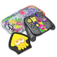 Housse - Etui - Coque - Facade - Sacoche De Transport Kit de protection Splatoon 2 Deluxe Hori pour Switch