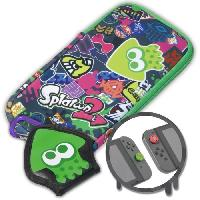 Housse - Etui - Coque - Facade - Sacoche De Transport Kit de protection Splatoon 2 pour Switch - Hori