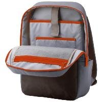 Housse - Etui - Coque - Facade - Sacoche De Transport Sac a dos pour ordinateur portable - Duotone Backpack - 15.6 - Gris Orange