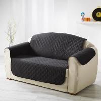 Housse De Canape DOUCEUR d'INTERIEUR Protege fauteuil matelasse Club 165x179 cm noir