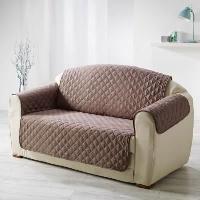 Housse De Canape DOUCEUR d'INTERIEUR Protege fauteuil matelasse Club 165x179 cm noisette