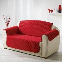Housse De Canape DOUCEUR d'INTERIEUR Protege fauteuil matelasse Club 165x179 cm rouge