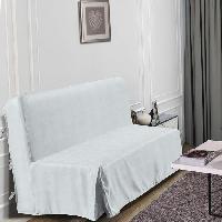 Housse De Canape HOMETREND Housse de BZ Graphite - 140 x 200 cm - Blanc