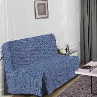Housse De Canape HOMETREND Housse de BZ Graphite - 140 x 200 cm - Bleu