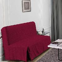 Housse De Canape HOMETREND Housse de BZ Graphite - 140 x 200 cm - Bordeaux
