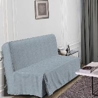 Housse De Canape HOMETREND Housse de BZ Graphite - 140 x 200 cm - Gris clair