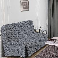 Housse De Canape HOMETREND Housse de BZ Graphite - 140 x 200 cm - Noir