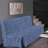 Housse De Canape HOMETREND Housse de clic clac Graphite - 200 x 140 cm - Bleu
