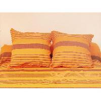 Housse De Coussin SOLEIL D'OCRE Housse de coussin OLYMPE Orange 40x40cm