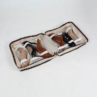 Housse De Rangement - Housse Sous-vide CASAME Sac de rangement 6 paires de chaussures - 37 x 34 x 16 cm - Beige