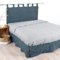 Housse De Tete De Lit - Housse De Dosseret COTE DECO Tete de lit matelassée Microfibre lavée MOJI 160x65 cm - Bleu denim