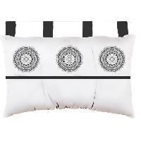 Housse De Tete De Lit - Housse De Dosseret SOLEIL D'OCRE Tete de lit Mandala en coton - 45x70 cm - Gris