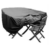 Housse Pour Meubles De Jardin Housse de protection pour salon de jardin table + 6 chaises - 240x136x65 cm - Anthracite