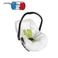 Housse Siege - Nacelle - Poussette Housse eponge pour siegecoque Gr0+ Blanc