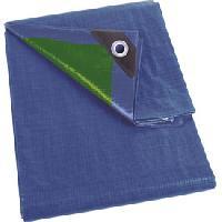 Housses de Protection Bache de protection 75g bleu vert avec oeillets 3x4m
