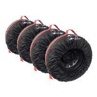 Housses de Protection Jeu de 4 housses pour pneus taille 13 a 16 Generique