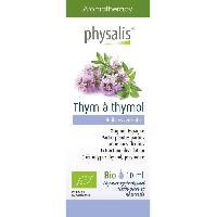 Huile Essentielle - Essence - Fleur De Bach Physalis huile ESSENTIELLE Thym a thymol -rouge- 10 ml Bio - Aucune