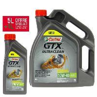 Huile Moteur CASTROL Huile moteur GTX 10W40 - 5 litres + 1 litre