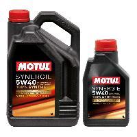 Huiles Moteur 3x Huile Motul synergie Diesel 5W40 bidon de 5L et 1L