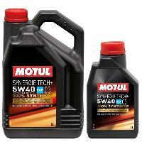 Huiles Moteur 3x Huile Motul synergie Tech plus 5W40 bidon de 5L et 1L