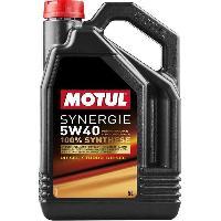 Huiles Moteur 4x Huile Motul synergie Essence 5W40 bidon de 5L