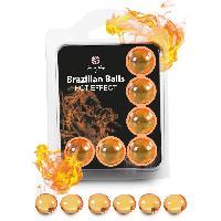 Huiles de massage Boules Bresiliennes Effet Chauffant X6
