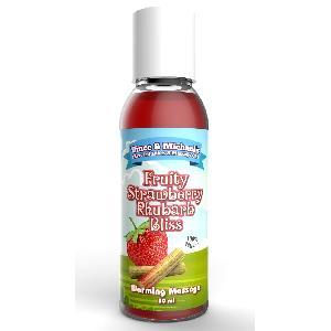 Huiles de massage Huile Chauffante VetM Saveur Fraise Rhubarbe - 50 ml - massage