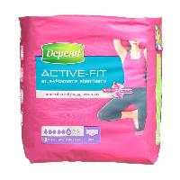 Hygiene Intime  Sous-vetements Active-Fit - Femme - Taille L - 8 x 4