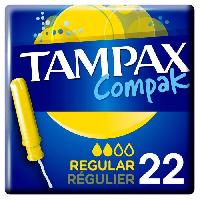 Hygiene Intime  TAMPAX Tampon Compak Regulier - 22 pieces