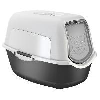 Hygiene Litiere Dejections Bac a litiere Sundis rotho - L55.5xl40xh38.7 cm - Noir et gris - Pour chat