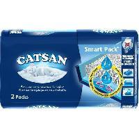 Hygiene Litiere Dejections CATSAN Litiere et sac pret a poser Smartpack 2 x 4 l - Pour chat