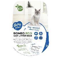 Hygiene Litiere Dejections DUVO+ Romeo Eco Bac a litiere 57 x 39 x 41 cm - 1.195 kg - Bleu - Pour chat
