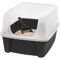 Hygiene Litiere Dejections IRIS OHYAMA - Bac a litiere pour chat avec pelle - Cat Litter Box - Gris - 38 x 48.5 x 30.5 cm