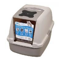 Hygiene Litiere Dejections Maison de toilette - Gris - Pour chat