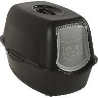 Hygiene Litiere Dejections Maison de toilette - Noire (PP Recyclé) - 56 x 40 x 39 cm