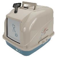 Hygiene Litiere Dejections Maison de toilette Ecuador 55x40x51cm - Pour chat