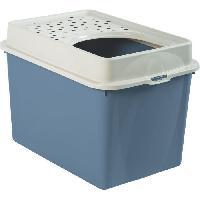 Hygiene Litiere Dejections Maison de toilette TOP 50l - Bleu (PP Recyclé) - 57.2 x 39.3 x 40.4 cm