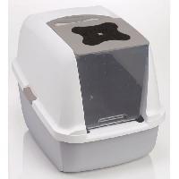 Hygiene Litiere Dejections Maison de toilette grise 40x55x45 cm - Cat It