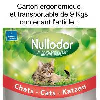 Hygiene Litiere Dejections NULLODOR Litiere en silice - Pour chat - Carton de 9 kg
