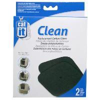 Hygiene Litiere Dejections Recharge 2 filtres charbon pour maison de toilette Cat It
