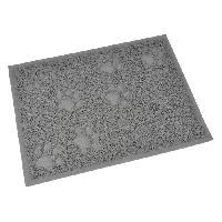 Hygiene Litiere Dejections Tapis de litiere PVC rectangle - 30x40 cm - Gris - Pour chat
