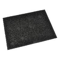 Hygiene Litiere Dejections Tapis de litiere PVC rectangle - 30x40 cm - Noir - Pour chat
