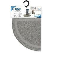 Hygiene Litiere Dejections Tapis maison de toilette chat gris
